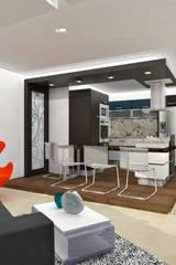 Cucina in stile in stile Minimalista di om-a arquitectura y diseño