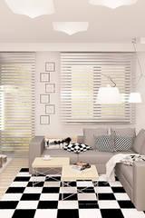 MINIMALIZM DLA SINGLA: styl , w kategorii Salon zaprojektowany przez Ludwinowska Studio Architektury