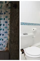 Before & After Photograph of a Bathroom in a Holiday Cottage:   by Dupere Interior Design