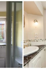 Before and After Photograph of a Shower Room in Seaside Holiday Cottage:   by Dupere Interior Design