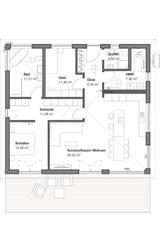 Bungalow Modern - Grundriss:   von bauen.wiewir GmbH & Co KG