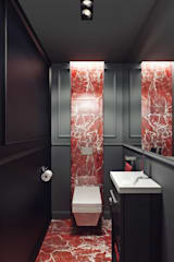 ​Restroom design. NYC: Ванные комнаты в . Автор – KAPRAN DESIGN (interior workshop)