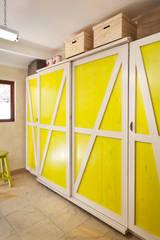 New storage area custom designed: rustic Kitchen by deborah garth interior design