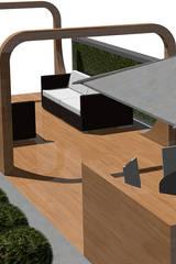 Wellseley Roof Terrace:  Terrace by Aralia
