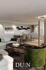 Merckt Groningen Interior Design: moderne Woonkamer door DUIN INTERIOR
