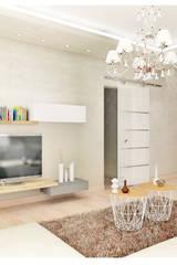 Soggiorno contemporaneo con mobile P.tv in appoggio e sospeso: Soggiorno in stile in stile Moderno di House Design Arredamenti