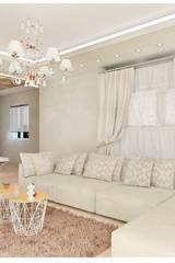 Soggiorno contemporaneo con illuminazione su cartongesso: Soggiorno in stile in stile Moderno di House Design Arredamenti