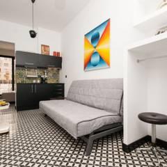 Aranżacje płytek cementowych w pokojach: styl , w kategorii Pokój multimedialny zaprojektowany przez Kolory Maroka