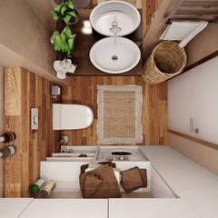 studio apartment: Ванные комнаты в . Автор – Angelina Alekseeva,