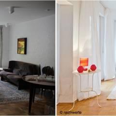 Home Staging Erbimmobilie Siebziger Jahre:  Wohnzimmer von raumwerte Home Staging,