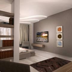 Квартира в Ж/К Центральный г. Краснодар Рабочий кабинет в стиле минимализм от Студия Маликова Минимализм