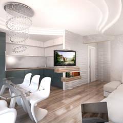 Квартира в Ж/К Центральный г. Краснодар Кухня в стиле минимализм от Студия Маликова Минимализм