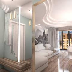 Квартира в Ж/К Центральный г. Краснодар Коридор, прихожая и лестница в стиле минимализм от Студия Маликова Минимализм