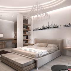 Квартира в Ж/К Центральный г. Краснодар Спальня в стиле минимализм от Студия Маликова Минимализм