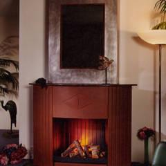 cheminée art deco: Salon de style  par Bloch Design