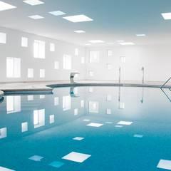 Piscina y Spa de un Hotel: Spa de estilo  de A2arquitectos, Minimalista