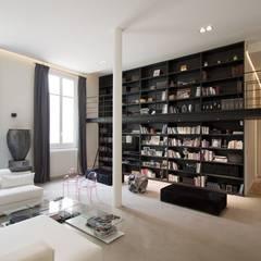 Appartement Luxembourg: Salon de style  par FELD Architecture,