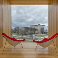 Centro Carlos Santamaría: Biblioteca y Centro de Datos Avanzados: Escuelas de estilo  de JAAM sociedad de arquitectura