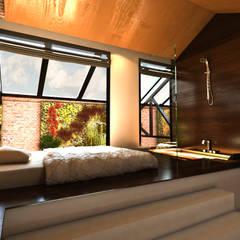 Habitaciones modernas de Luis Vegas Moderno