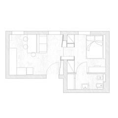 pianta: Case in stile  di MIROarchitetti