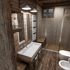 rustic Bathroom by studiosagitair