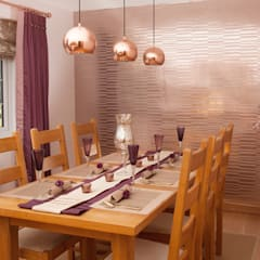 Feature Wall :  Dining room by Whitehouse Interiors
