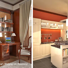 """Innenarchitektonische Neugestaltung Villa """"Latoschinka"""" - Wolgograd, Russland:  Küche von GID│GOLDMANN-INTERIOR-DESIGN - Innenarchitekt in Sehnde,Klassisch"""
