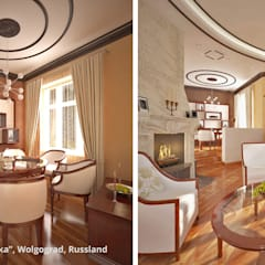 """Innenarchitektonische Neugestaltung Villa """"Latoschinka"""" - Wolgograd, Russland:  Esszimmer von GID│GOLDMANN-INTERIOR-DESIGN - Innenarchitekt in Sehnde,Klassisch"""