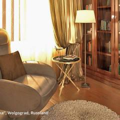 """Innenarchitektonische Neugestaltung Villa """"Latoschinka"""" - Wolgograd, Russland:  Wohnzimmer von GID│GOLDMANN-INTERIOR-DESIGN - Innenarchitekt in Sehnde,Klassisch"""