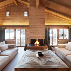 Chalet Gstaad:  Living room by Ardesia Design