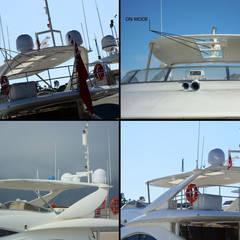 Yate privado en Saint Tropez (Francia): Yates y jets de estilo  de Vidrios de privacidad