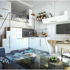 Кухня-гостиная-спальня: Кухни в . Автор – ToTaste.studio