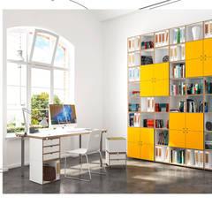 Büroregal Arbeitszimmer:  Arbeitszimmer von stocubo - Das modulare Regalsystem