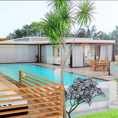 Villa / Palm -Hills Residence / Hua-Hin / Thaïlande: Maisons de style  par LE LAB Design