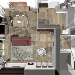 agencement et décoration séjour: Salon de style  par agence concept decoration