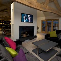 Salas / recibidores de estilo  por Yorkshire Design Associates, Rústico