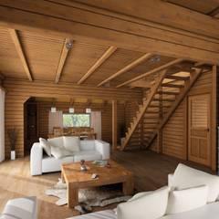 """Ferenhaus """"Norwegen"""" Innenansichten: skandinavische Häuser von THULE Blockhaus GmbH"""