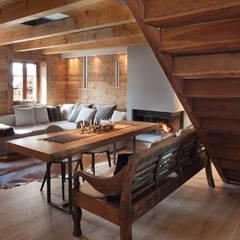 Salas / recibidores de estilo escandinavo por archstudiodesign