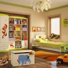 Kinderzimmer Winnie Puuh: moderne Kinderzimmer von Möbelgeschäft MEBLIK