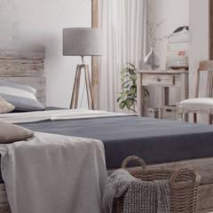 Villa Vittoni: Camera da letto in stile  di Vittorio Bonapace 3D Artist and Interior Designer