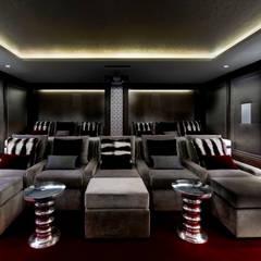 Basement Home Cinema:  Media room by Wilkinson Beven Design