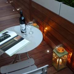 Roof terrace 2:  Terrace by Paul Newman Landscapes
