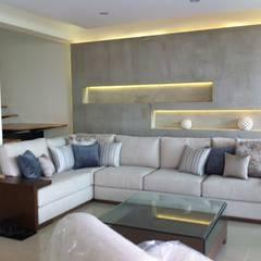 SALA DE ESTAR: Salas de estilo  por GHT EcoArquitectos