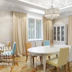 Cовременный интерьер в модном средиземноморском стиле: Столовые комнаты в . Автор – kristinavoloshina