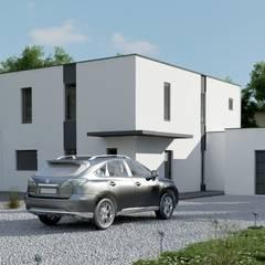 SOLUTION 3D EN ARCHITECTURE: Maisons de style de style Moderne par DEC-DESIGN