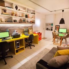 Oficinas de estilo  por Passo3 Arquitetura, Industrial