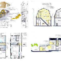 eerste schetsen en plattegronden: modern  door Obliq Architectuur, Modern