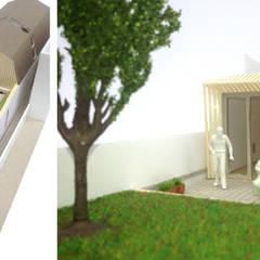 maquette woning: modern  door Obliq Architectuur, Modern