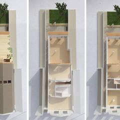maquette uit elkaar gehaald: modern  door Obliq Architectuur, Modern