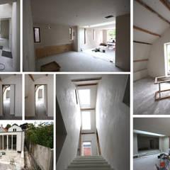 uitvoering afbouw: modern  door Obliq Architectuur, Modern